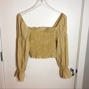 Urban Outfitters Smocked Milk Maid Top
